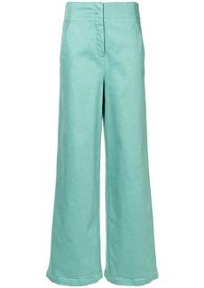Tibi high-waisted wide leg trousers