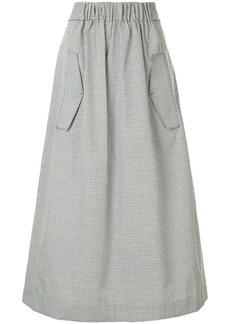 Tibi houndstooth A-line skirt