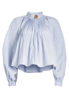 Tibi Isabelle Cropped Blouse
