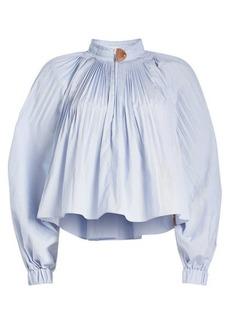 cf4b24a7ce3ea0 Tibi Isabelle Shirting Long-Sleeve Blouse