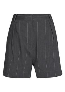 Tibi Isselin Striped Shorts