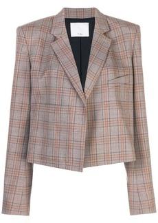 Tibi James check cropped jacket