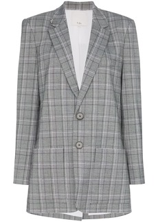 Tibi James check pattern blazer