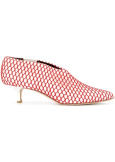 Tibi Joel fishnet detail pumps