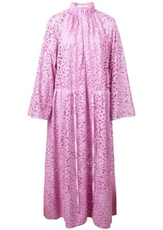 Tibi lace drawstring midi dress
