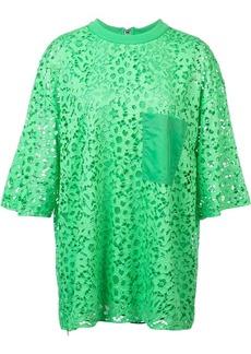 Tibi lace short-sleeved blouse