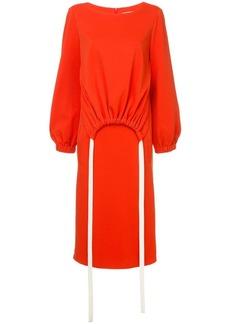 Tibi layered drawstring detail dress