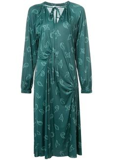 Tibi leaf print dress
