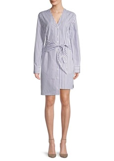 Tibi Liam Striped Shirtdress