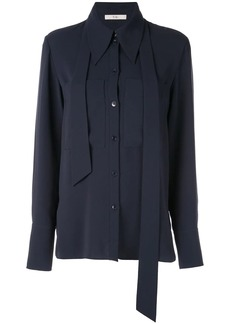Tibi Lightweight triacetate blouse with removable tie