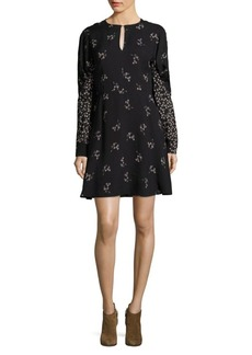 Tibi Lila Floral Flirty Dress
