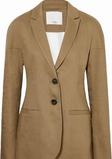 Tibi Linen-blend Twill Blazer