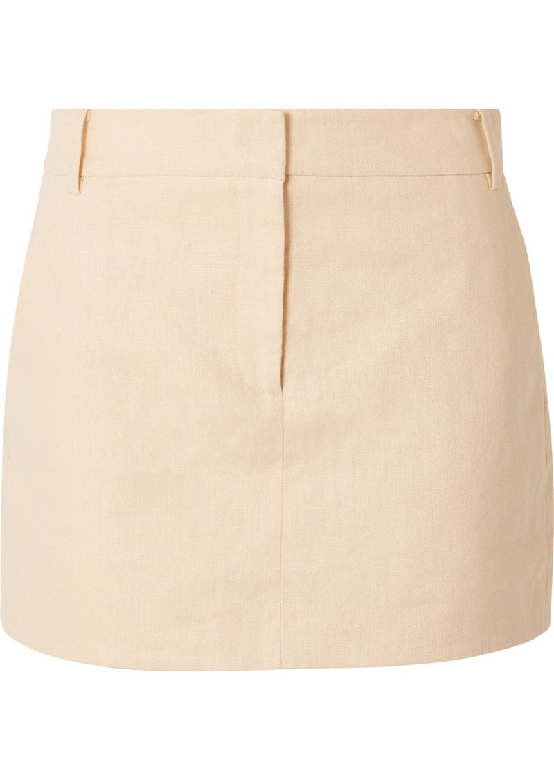 Tibi Linen Mini Skirt