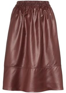 Tibi Liquid Drape midi skirt