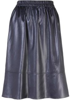 Tibi Liquid draped midi skirt
