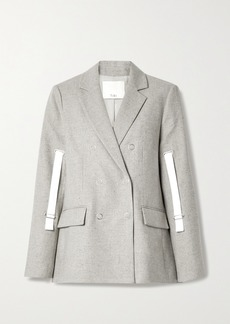 Tibi Lola Canvas-trimmed Tweed Blazer
