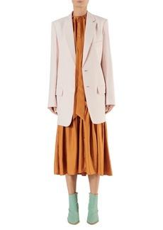 Tibi Long Linen Suiting Blazer