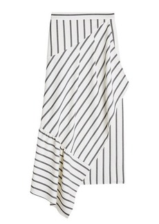 Tibi Lucci Striped Asymmetric Skirt