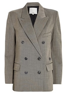 Tibi Luka Double-Breasted Suiting Blazer