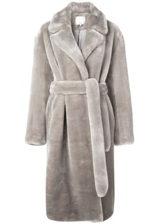 Tibi Luxe faux fur trench coat