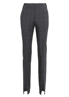 Tibi Wool-Blend Windowpane Slim Trousers