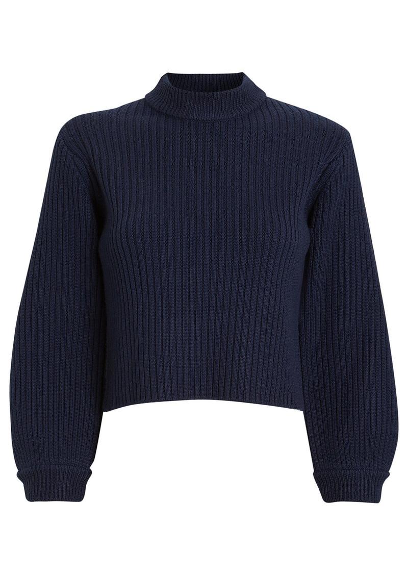 Tibi Merino Rib Slit Sweater