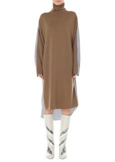 Tibi Merino Wool Mixed Media Midi Dress