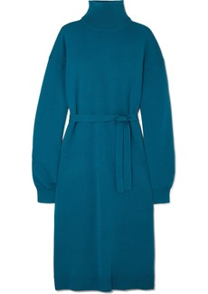 Tibi Merino Wool Turtleneck Midi Dress