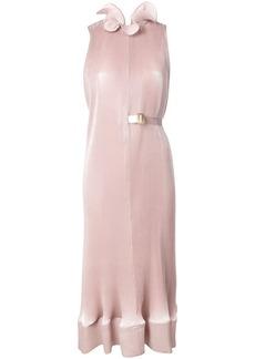 Tibi micro pleated midi dress