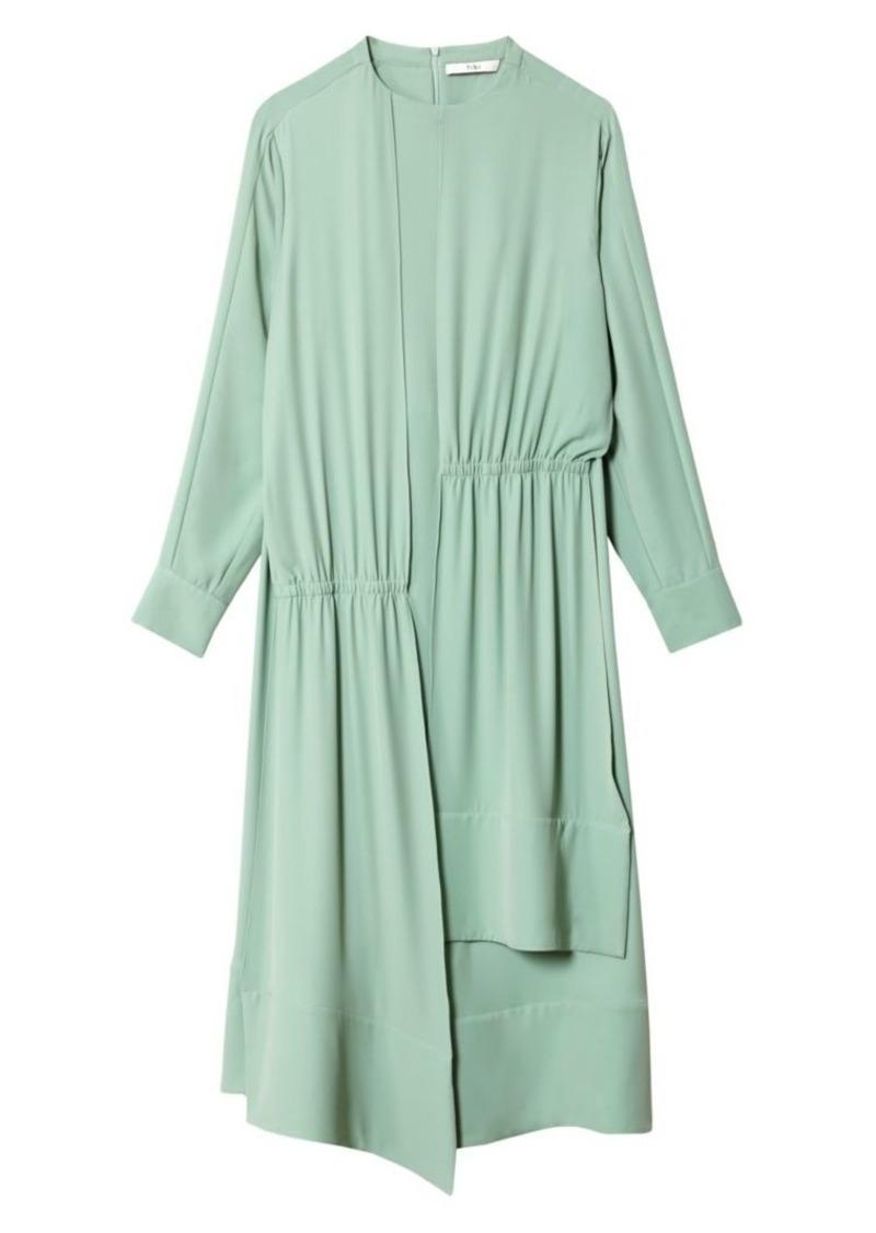 Tibi Modern Drape Open Back Dress