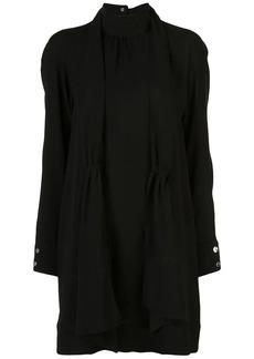 Tibi modern drape shirred dress