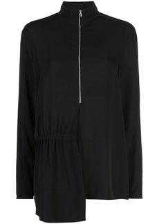 Tibi modern drape zip front top