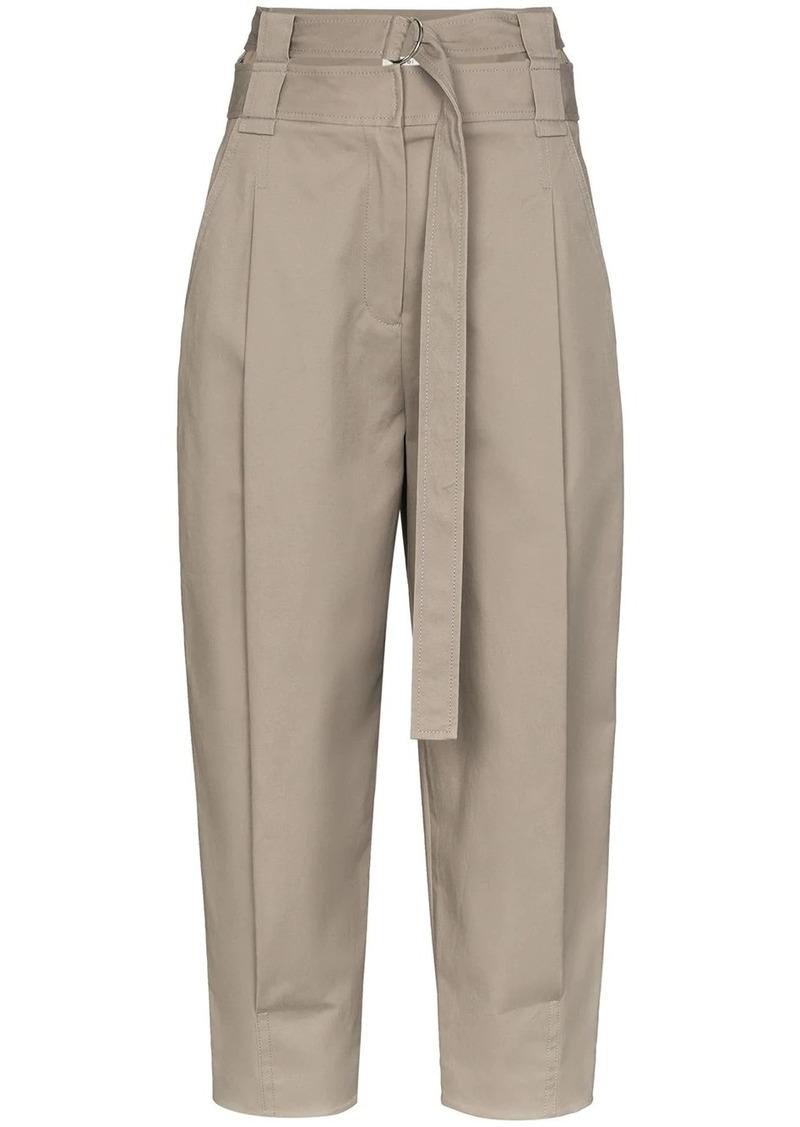 Tibi Myriam high waist cotton trousers