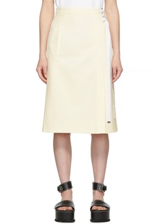 Tibi Off-White Stretch Anson A-Line Skirt