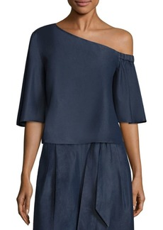 Tibi One-Shoulder Cotton Top