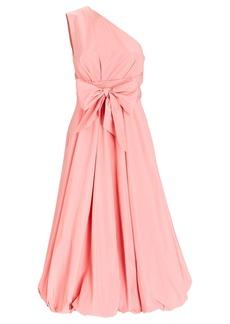 Tibi One-Shoulder Taffeta Midi Dress