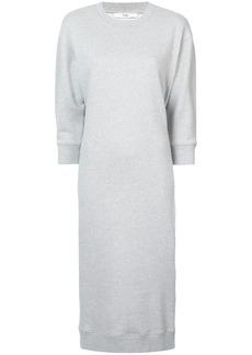 Tibi open back sweatshirt midi dress