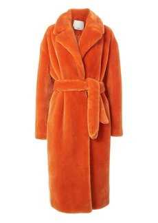 Tibi Orange Faux Fur Coat