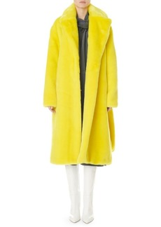 Tibi Oversized Faux Fur Belted Trench Coat