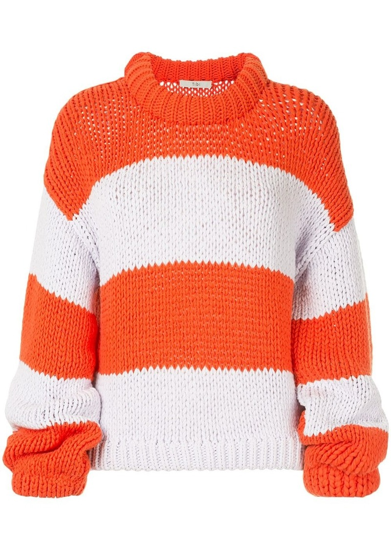 Tibi oversized striped sweater