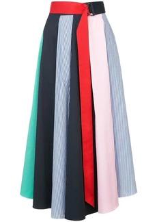 Tibi panelled full skirt
