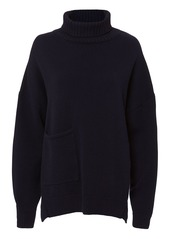 Tibi Patch Pocket Cashmere Turtleneck