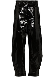 Tibi patent tapered trousers