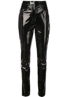 Tibi patent skinny fit trousers