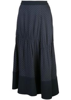 Tibi pindot shirred panel skirt