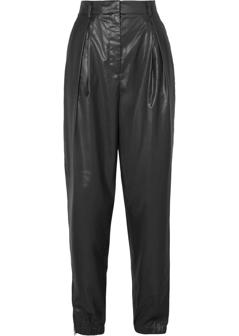 Tibi Pleated Shell Tapered Pants