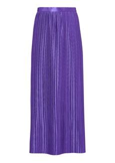 Tibi Pleated Purple Skirt