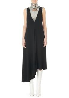 Tibi Plunging Asymmetric Midi Dress