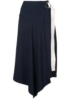 Tibi Ponte asymmetric midi skirt