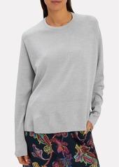 Tibi Poplin Back Merino Pullover
